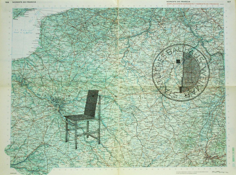 Gonzalo-Elvira-Bauhaus-W-2016-Tinta-sobre-mapa-46x63cm