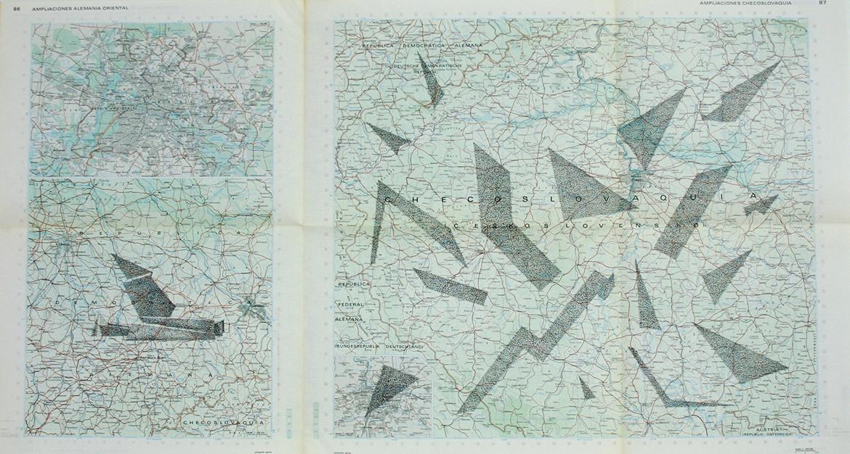 Gonzalo-Elvira.-Walter-Gropius.-2015.-Tinta-sobre-mapa,-50-x-90-cm