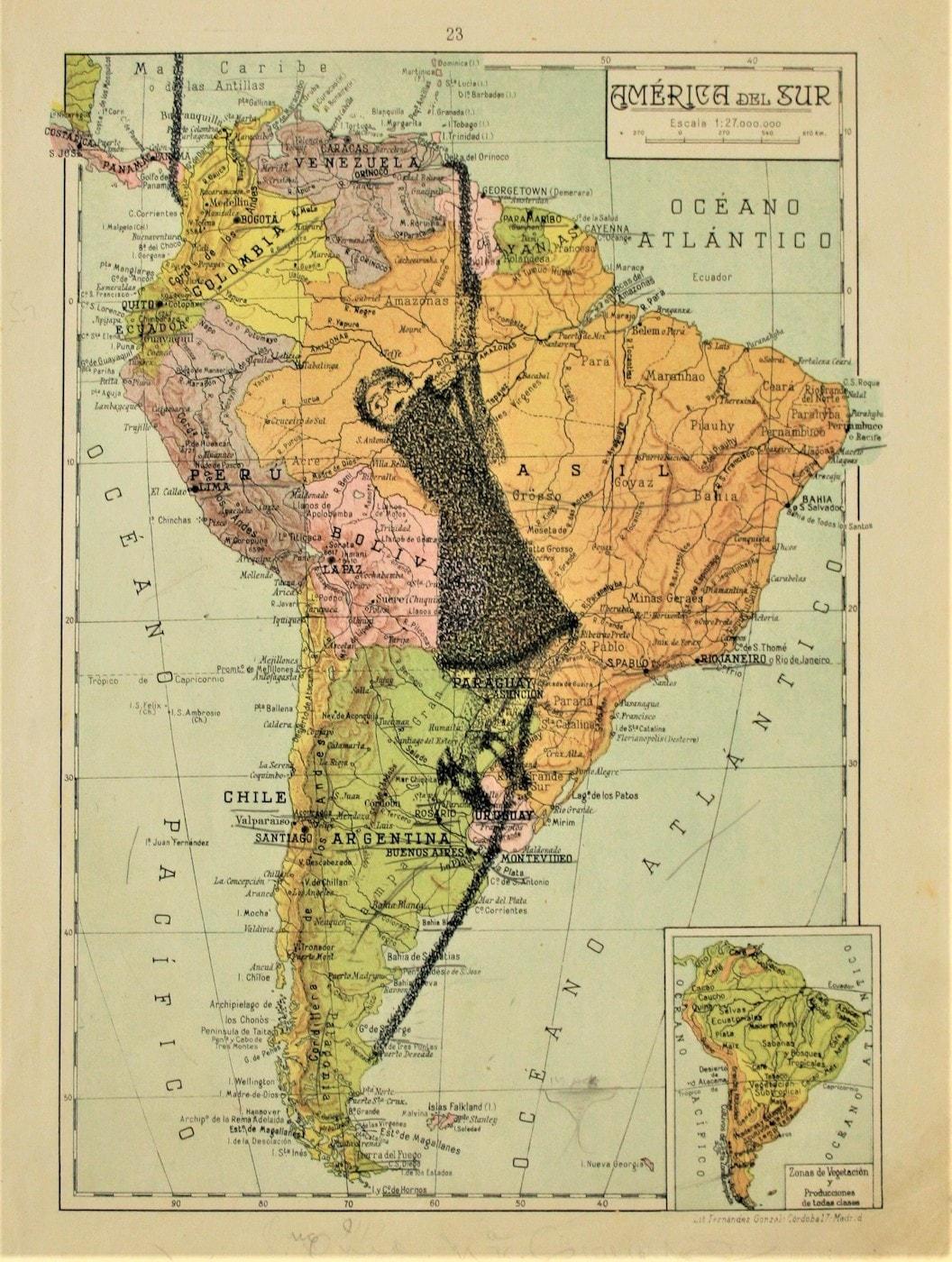 Gonzalo-Elvira-Sobre-el-abismo2018-Tinta-sobre-mapa-36-x-24-cm-1500€